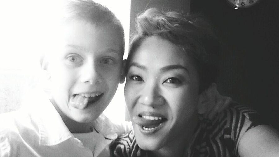 Birthdayboy Takingselfie 10yearold Instapic Fallwinter2015 EE_Daily: Black And White Sunday Afterchurch Instagramer