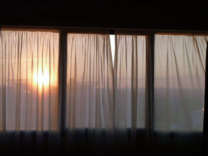 Windows: Cuba Close-up Curtain Day Drapes  Indoors  Nature No People Sunset