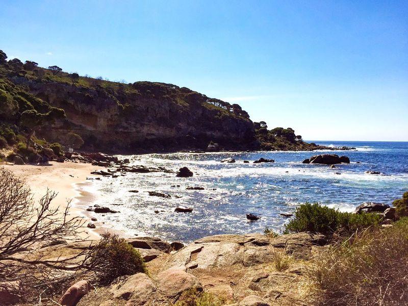 Cape Naturaliste Rocky Beach Rocky Coastline Yallingup Southwest  Sunny Day Rock Face