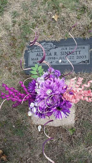 Got new Flowers for my daughters Grave for her Birthday. she would have been 17 this year.