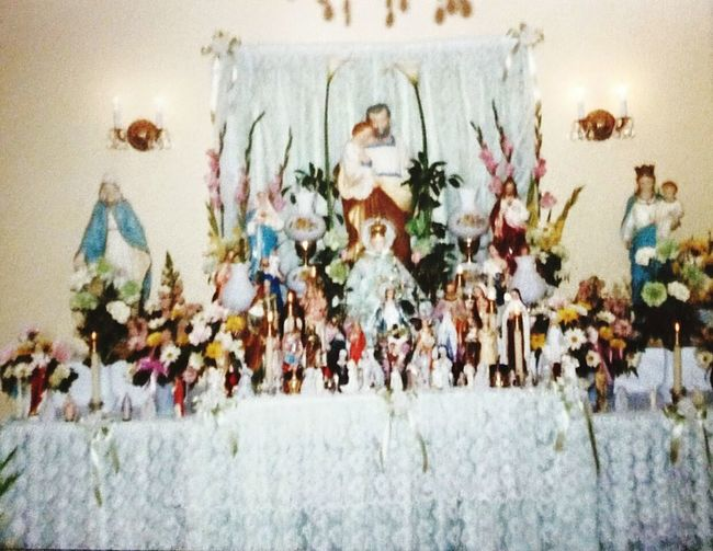 Home Altars And Shrines Saint Joseph's Day/week Long Collaboration Praying And Hems. Childhood Memories