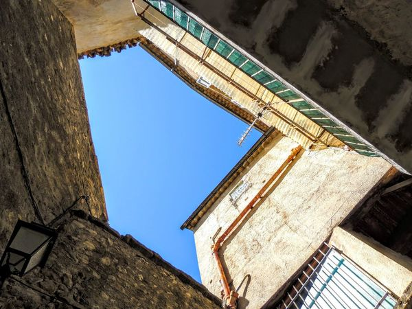 France Provence Provence Alpes Cote D´Azur Architecture Building Exterior Built Structure Clear Sky Day Low Angle View No People Outdoors Provence Village Provencealpescôtedazur Sky Village Window