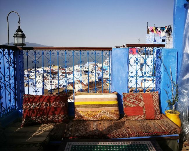 Rooftop view with cushions Sky Multi Colored No People Architecture See The World Travel Enjoying Life Morocco Travel Photography Eye4photography  From My Point Of View Chefchaouen EyeEm Gallery Tadaa Community Travel Destinations Chefchaouen Medina Town Hi Hello World Tranquil Scene Lightandshadow Cushions  Rooftop Rooftop View  Neighborhood Map