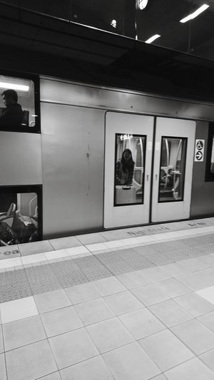 BYOPaper! Goodbyemoment Timetogo Hardestpart Lovestory Neversaygoodbye Memories Train Travelling Photography Journey Challenge Contrast Blackandwhite Outdoors Station Looking To The Other Side Seeyouagain Lovephotography  Sydney Love Japanese  Colombia Australia