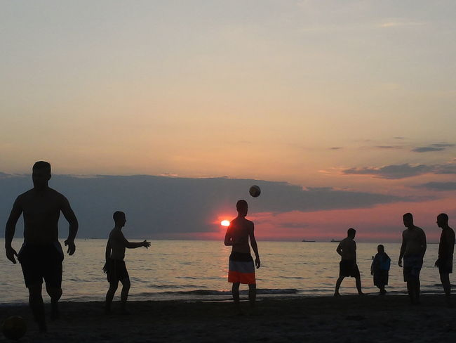 Silhouette People Beach Summer Sunset Durres Albania Nofilter The Week On EyeEm Done That.