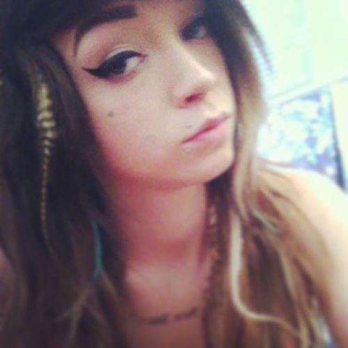 Hipstergirl Hipstergirlsswag BlueEyes Blazed stonerchick stoner lesbianwithtattoo longhairdontcare ombrehair dreamcatcher