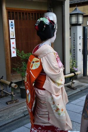 Real People Traditional Clothing Women Architecture Lifestyles Rear View Built Structure