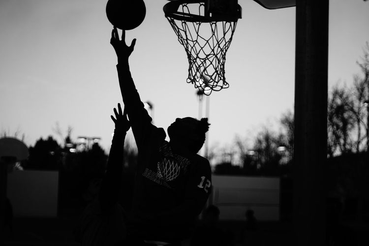 Layup at Sunset