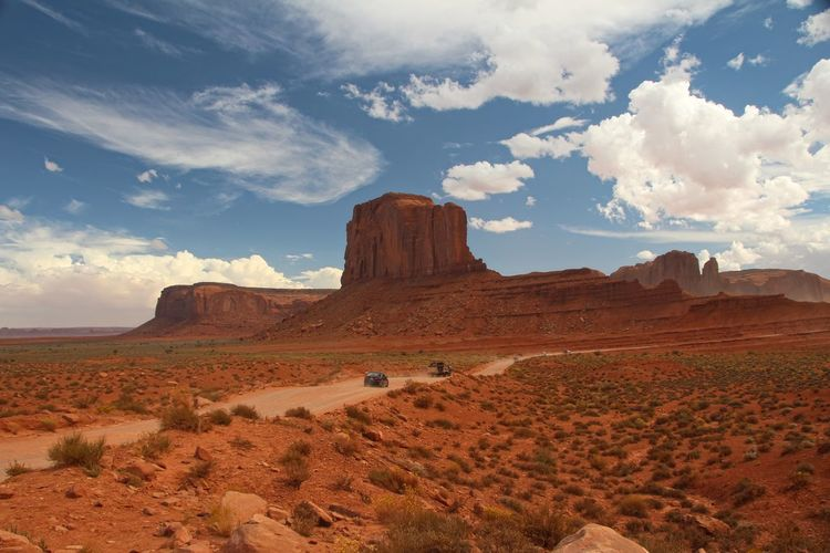 Beautiful monument valley Sky Environment Landscape Cloud - Sky Scenics - Nature Beauty In Nature Tranquil Scene Land Tranquility Non-urban Scene Desert Rock Formation Nature Remote Rock Idyllic Geology Climate Arid Climate Physical Geography No People Outdoors Formation Eroded Sandstone