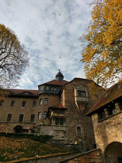 Building Exterior Architecture Built Structure Sky No People Outdoors Cloud - Sky Low Angle View City Day Autumn Colors Castle Of Elgersburg
