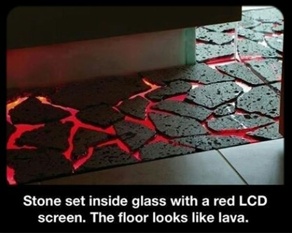 Architecture And Interiors Ingenious Lava Floors