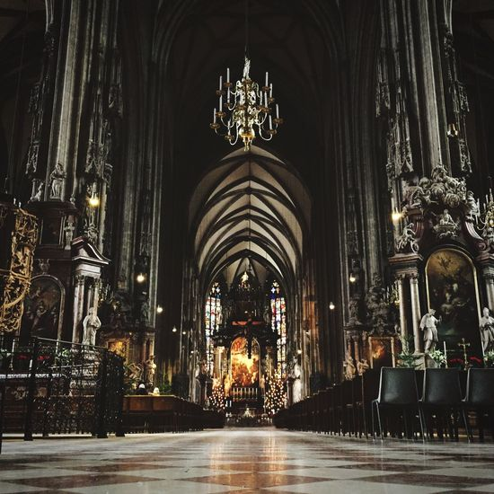 Church Cathedral Architecture Lights Vienna Open Edit