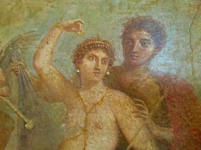 The two lovers Pompeii  Fresco Paintings Art Roman Empire Roman Art Roman Age Archeology History