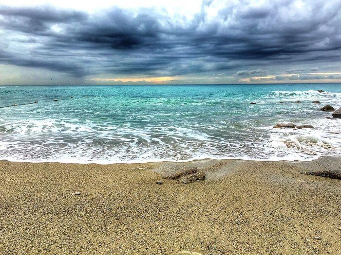 Beach Land Sea Water Sky Beauty In Nature Cloud - Sky Sand Horizon Over Water No People Wave Horizon