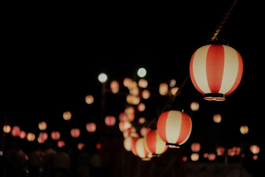 Bokeh Photography Bon Dance Festival Eye4photography  EyeEm Best Shots EyeEm Gallery FUJIFILM X-T1 Fujifilm_xseries Illuminated Light Lighting Equipment Night ぼけ 盆踊り