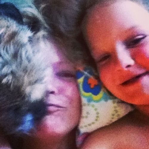 I tryed to take an Egopic ^^  My Dog And My Beautiful Daughter wanted to be in the picture as well. Selfie