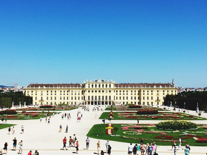 Group Of People In Front Of Schonbrunn Palace