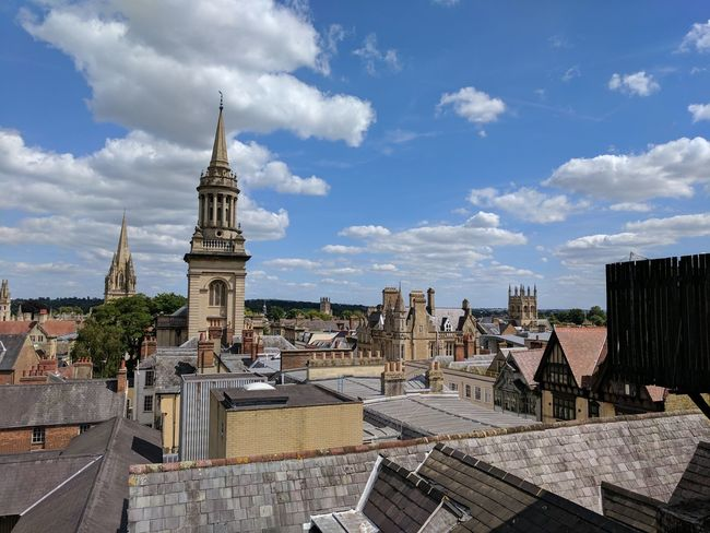 EyeEm Selects Architecture Cloud - Sky History Travel Destinations Building Exterior Outdoors Built Structure No People Cityscape City Oxford Rooftops Google Pixel Googlecamera Mobilephotography Unedited
