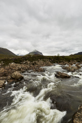 Water Sky Cloud - Sky Beauty In Nature Motion Scenics - Nature Nature Environment Sea Rock Mountain No People Flowing Water Blurred Motion Land Day Sport Aquatic Sport Outdoors Flowing Power In Nature Highlands Scotland Scottish Details Nature Wonderful Colors Orkneys