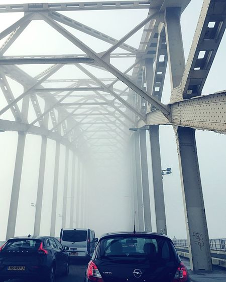 MeinAutomoment Waalbrug Nijmegen Bruge Mist Misty Morning Driving into the unknown... Fog Foggy Morning Foggy Foggy Weather