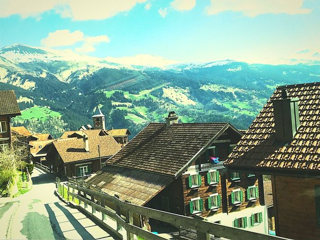 Swiss Alps No People Mountain Sky Beauty In Nature Montains And Sun