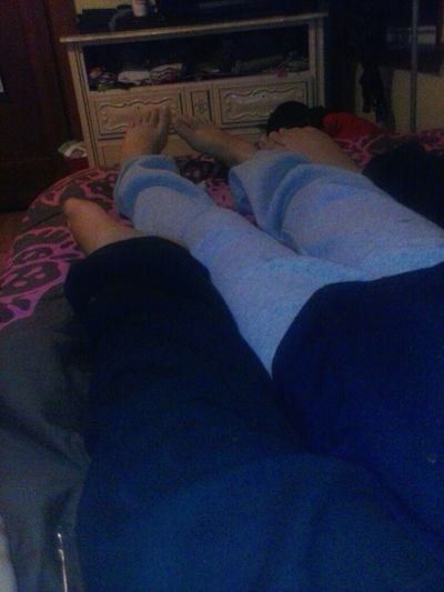 Me And My Sis Toes And Sweat Pans <3