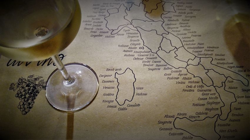 Astronomy Close-up Day Drink Food And Drink Freshness Indoors  Ink Well Map No People Old-fashioned Paper Still Life Table Text Italy Holidays Wine Tasting Wine Glass Investing In Quality Of Life