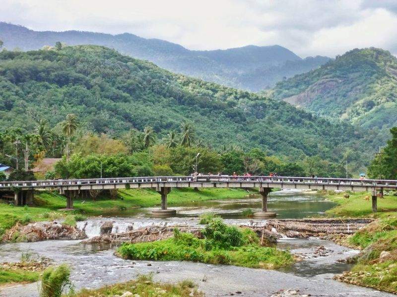 Kiriwong village one of the places that have ozone maxium in thailand Kiriwong Tree Mountain Water Forest Bridge - Man Made Structure Sky Landscape Mountain Range Architecture Grass