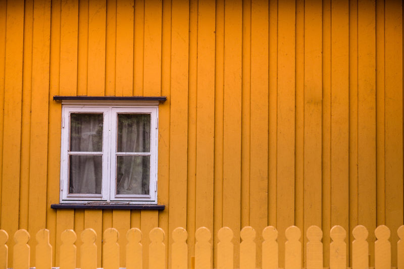 Yellow Window Of House