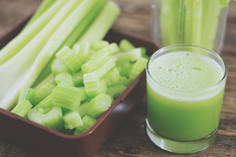 celery juice cleanse detox food for health Smoothie Dieting Thick Drink Celery Drinking Glass Vegetable Cucumber Close-up Green Color Detox