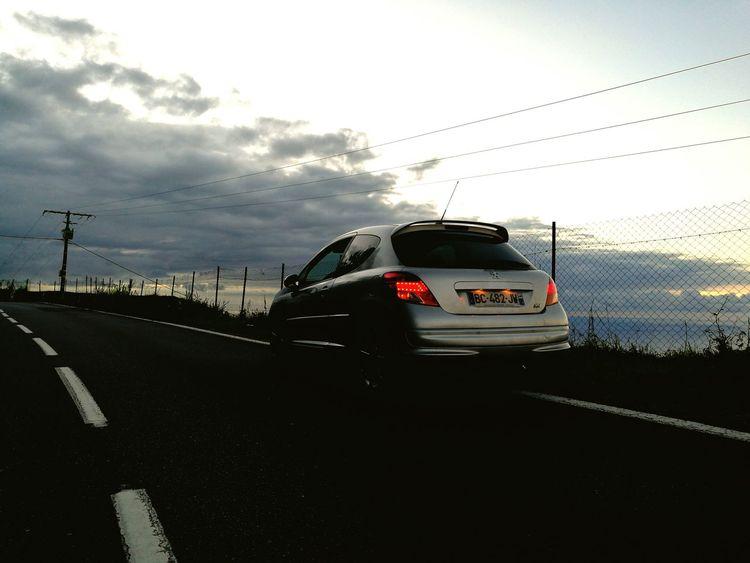 Peugeot 207 Slammed Photo Night Road frenchlow EyeEm Best Shots - Sunsets + Sunrise