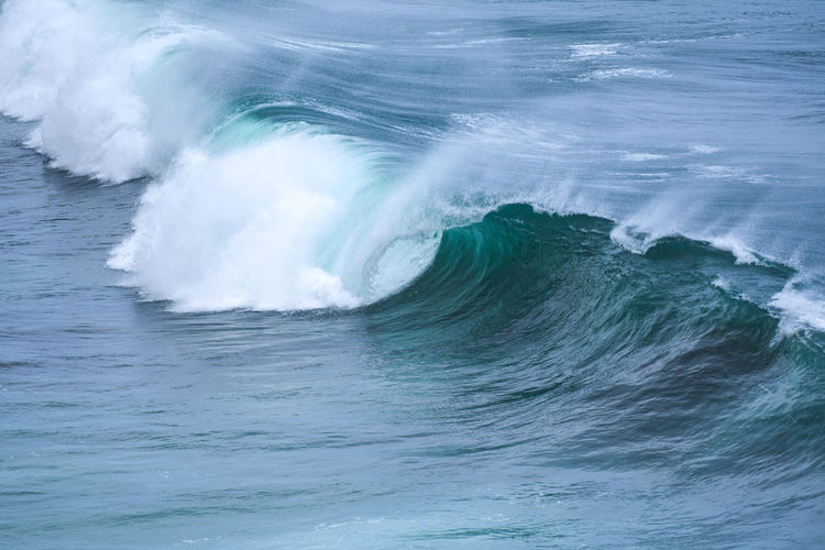 Storm is brewing with breaking waves