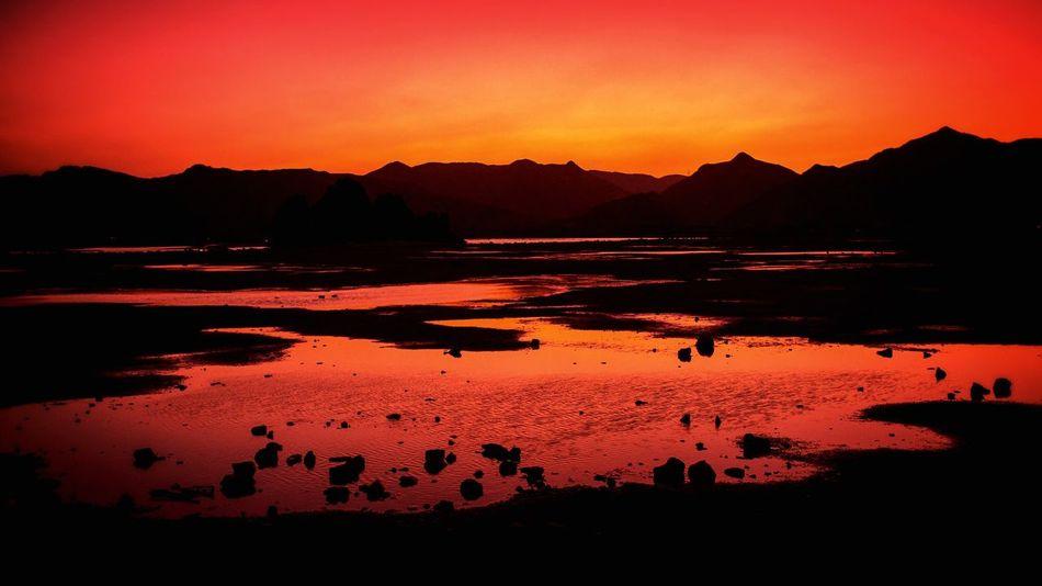 Yitti Beach Amazing Sunset Orange Sky Beach Beautiful Nature Oman Visit Oman Hidden Gems  Tranquility Travel