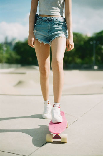 Film Photography Penny Board Skateboard Skatergirl