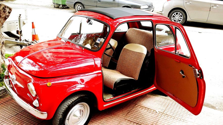 Skg Tootoo.gr Fiat500 Red Car