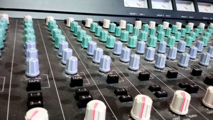 Close-up In A Row Indoors  Knob Knobs Knobs And Dials Knobs&buttons Mix Tape Session Mixer Mixing Board Multi Colored Music Music Studio  No People Order Recording Session Remix ReMixing Repetition Side By Side Studio
