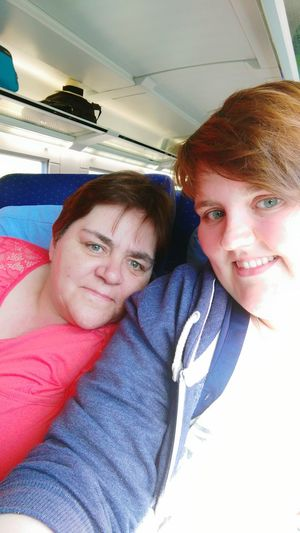 My Mum And Me, So Excited Holidays Selfie ✌ Train Ride Travel To Bensersiel ❤😎