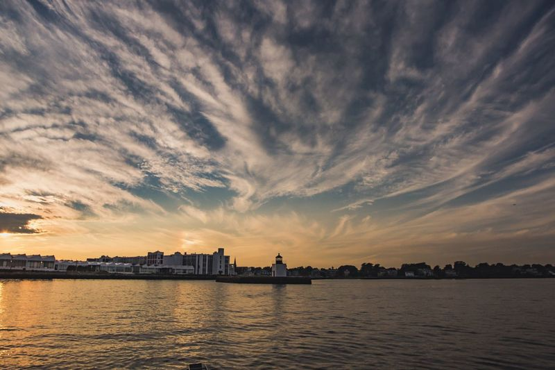 Salem Mass Harbor . Water Architecture Cloud - Sky Sky Sunset City Built Structure
