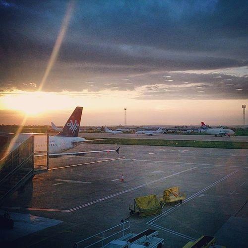Belgradephoto Belgrade Beograd Nikolatesla belgrade_airport sunrise sunrays srbija serbia ig_srbija ig_belgrade ig_sunriseshots