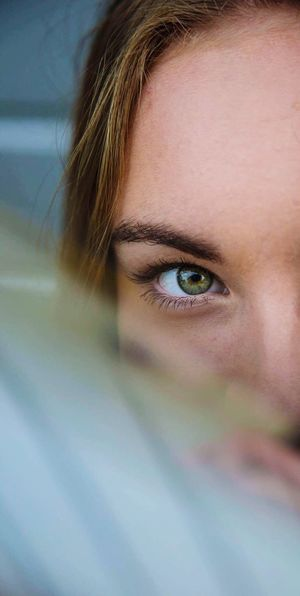 Human Eye Human Face One Person Looking At Camera Portrait Human Body Part Real People Close-up Young Adult Young Women Indoors  Eyebrow Women Beautiful Woman Eyelash Lifestyles Eyesight Sensory Perception Eyeball Day