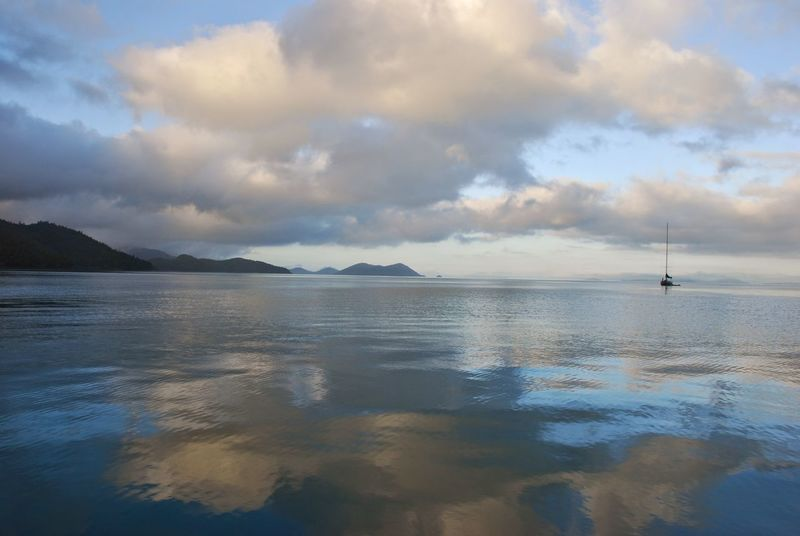 Atmospheric Mood Australia Beauty In Nature Distant Majestic Outdoors Reflexions Sailing Scenics Sea Sky Water Whitehaven Beach