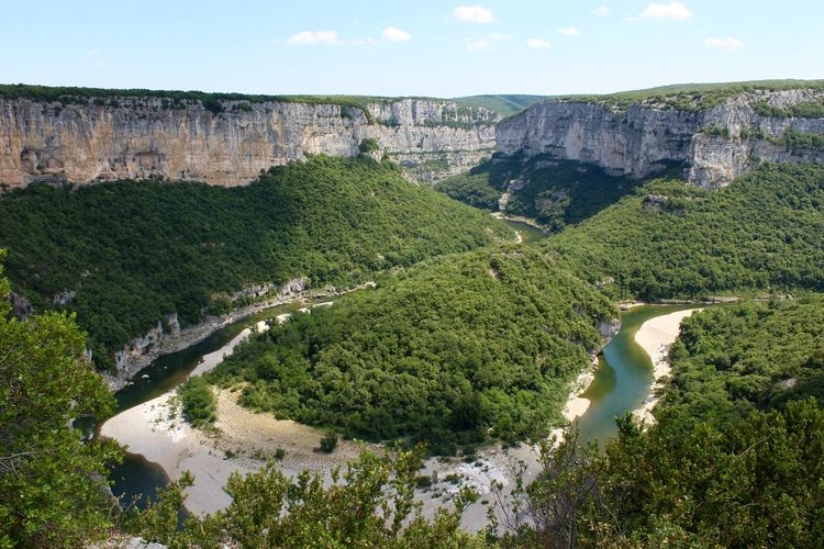 Landscape Canyon France Ardeche