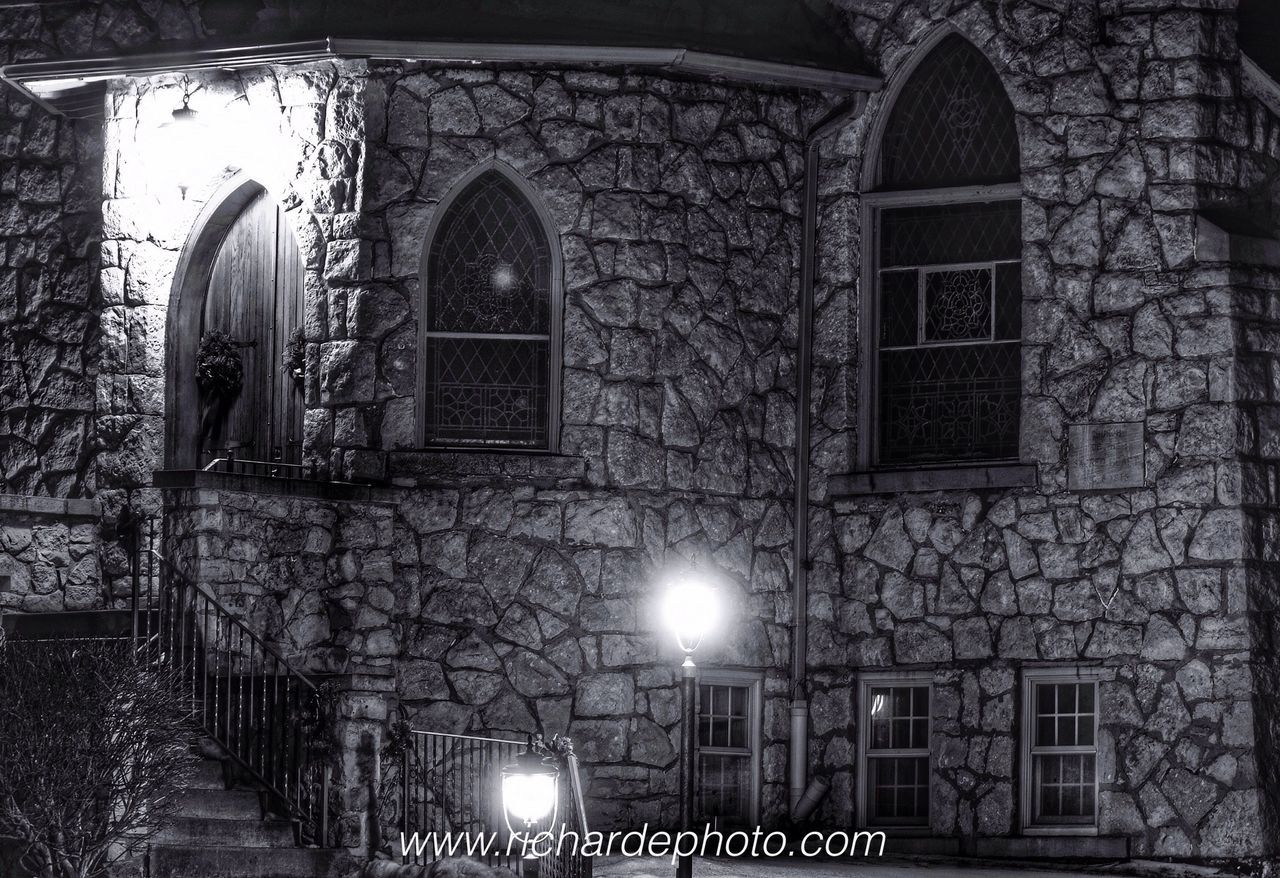 illuminated, architecture, built structure, night, no people, window, building exterior, indoors