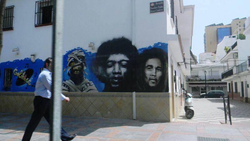Streetphotography Street Art Urban Lifestyle Jimihendrix Bobmarley Vespa Beautiful SPAIN España FUENGIROLA