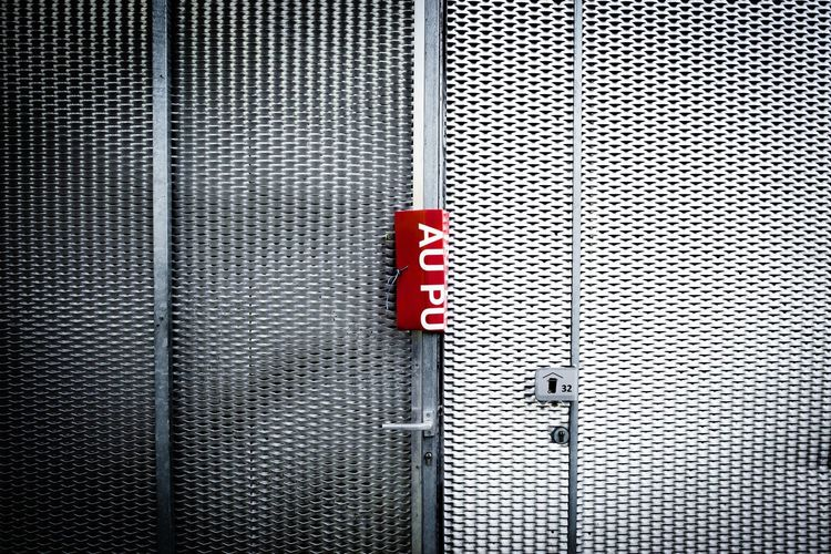 Urban Perspectives Street Photography Red Safety Security Metal Protection No People Close-up Full Frame Pattern Day Wall - Building Feature Entrance Backgrounds Door Textured  Communication Outdoors Gate Barrier Closed Iron Architectural Detail My Best Photo