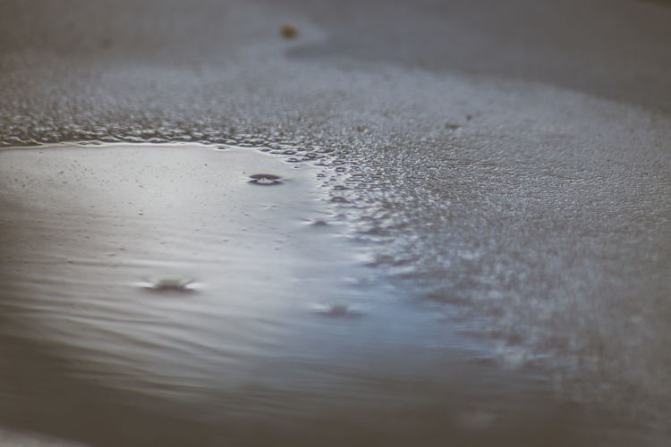 Selective Focus Water No People Full Frame Close-up Nature Wet Day Backgrounds Outdoors Animal Animal Themes Reflection Cold Temperature Drop Motion High Angle View Surface Level Wallpaper Uncut EyeEm Macro Wintertime