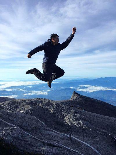 Flying High Mountains And Sky Kota Kinabalu Husband Jumpshot Peakofmountain Flying High