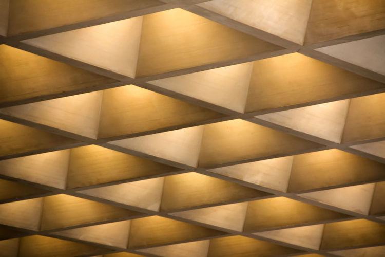 Sometimes I find other things than art interesting in museums... Abstract Architecture Built Structure Ceiling Diagonal Lines Different Perspective Geometric Shape Indirect Lighting Indoors  Light And Shadow Louvre No People Pattern Repetition Shape Showcase April Fine Art Photography