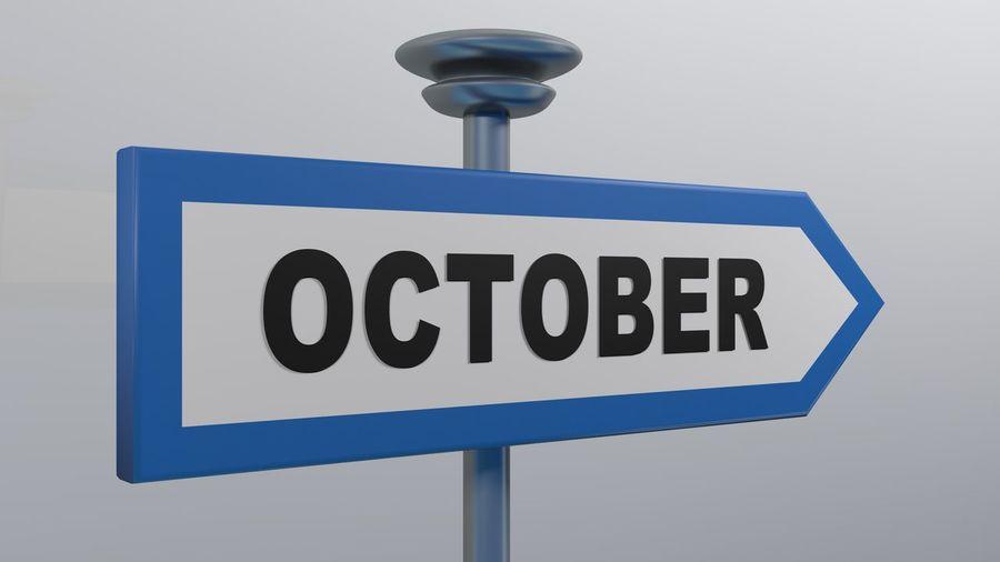OCTOBER blue