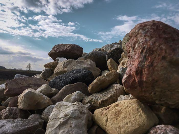 Rock Rocks Vintage Sky Sky And Clouds Sky_collection April Nature